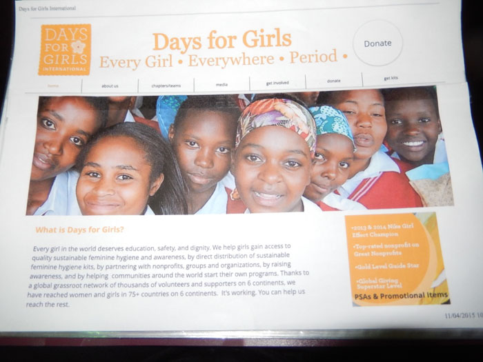 The Days for Girls Project